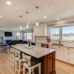 Titus Contracing   Dining Island Kitchen Remodel