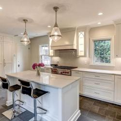 Built-in Kitchen Fridge Hidden Behind Cabinet Doors
