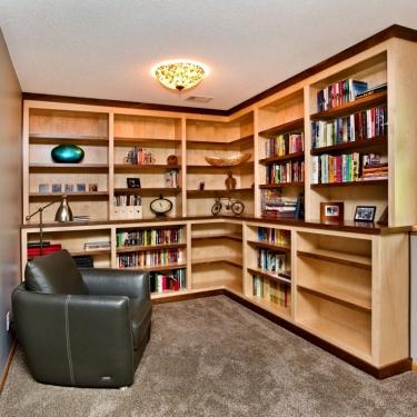 Titus Contracting | Basement Den remodeling Hastings