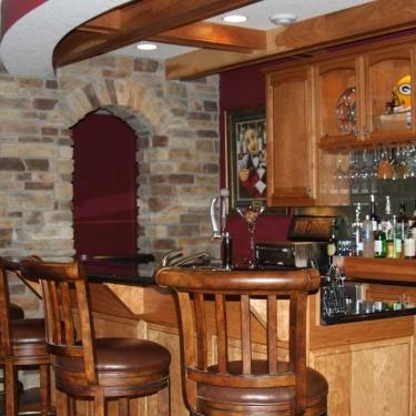 Titus Contracting | Basement bar remodeling Hastings