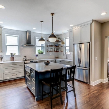 Traditional Hardwood Kitchen Floor