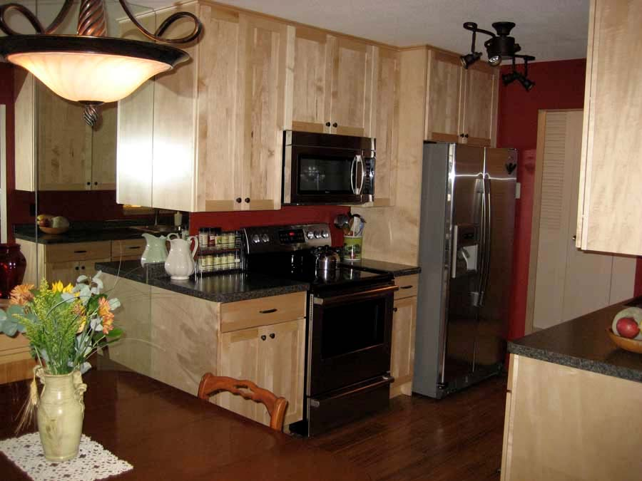 after shot - wooden kitchen remodel minneapolis