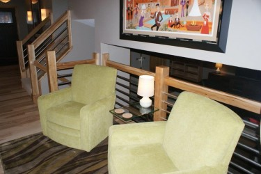 Comfy chairs in a residential remodeling job