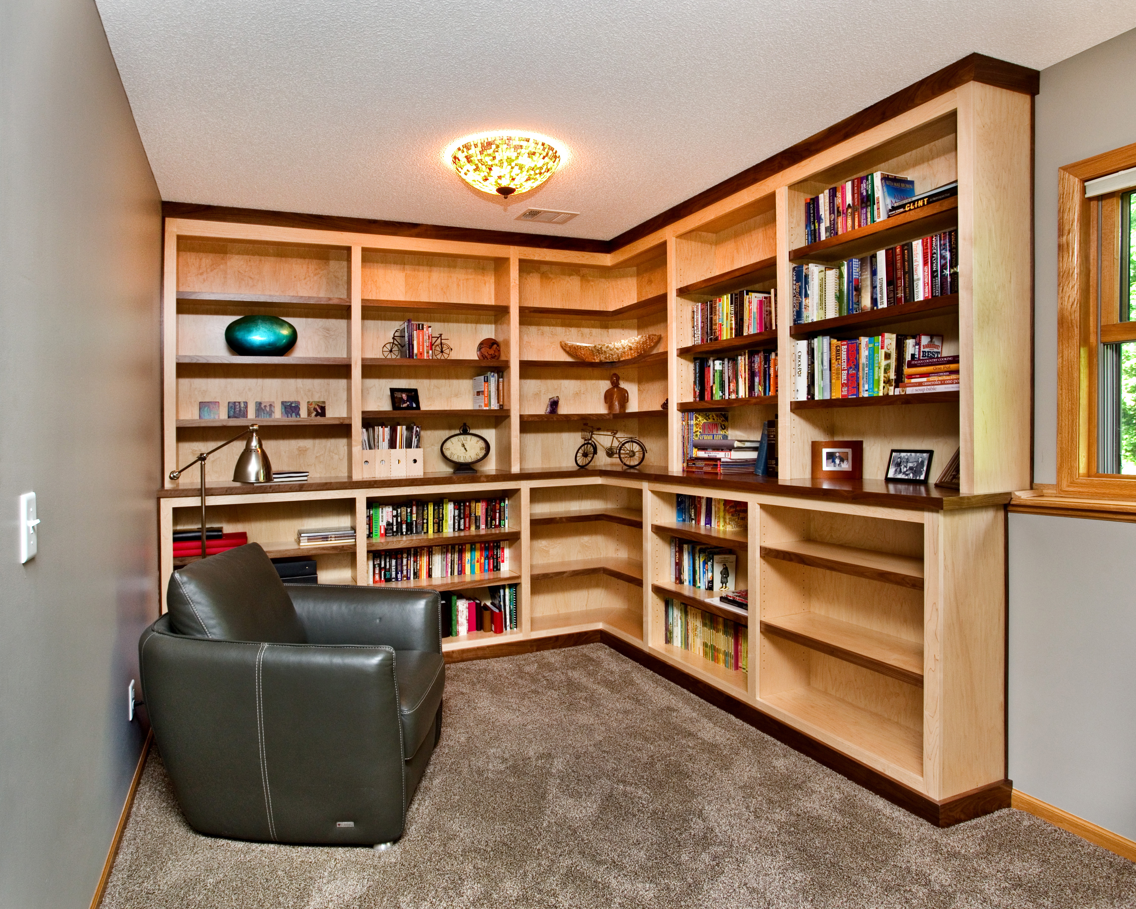Reading nook designed and built by Titus Contracting