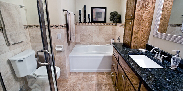 After bathroom remodel by Titus Contracting INC