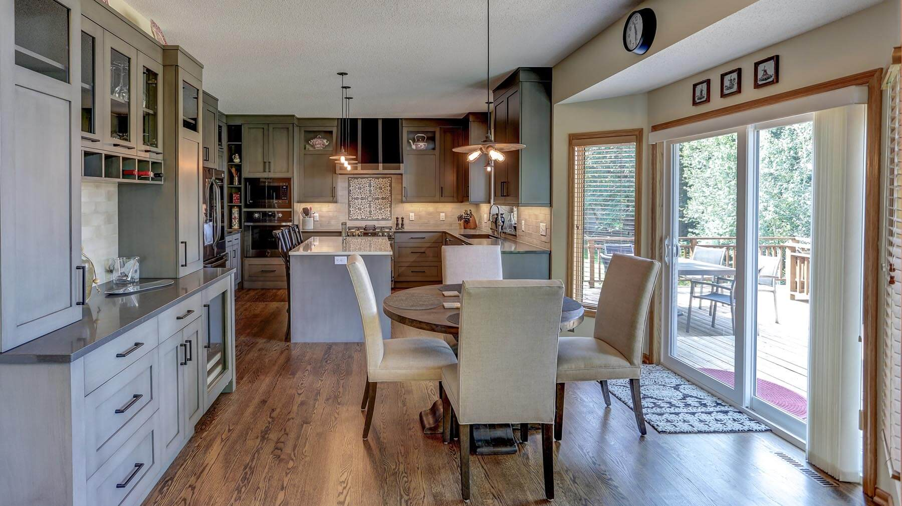 Eat-in dining in an updated kitchen remodel by Titus Contracting